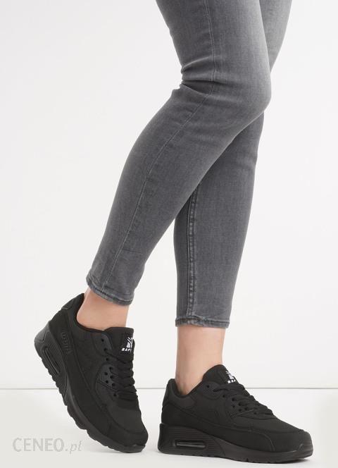 Czarne Buty Sportowe Vintage Nilda Sportowe Damskie Tanie