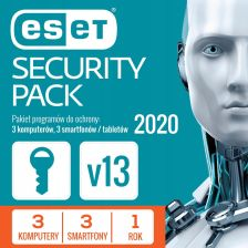 ESET Security Pack 3PC + 3Smartfony 1 Rok (ESPN1Y6D)