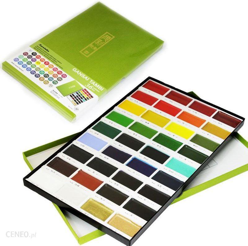 KURETAKE GANSAI TAMBI 36 COLOR SET - akvarelinių dažų rinkinys