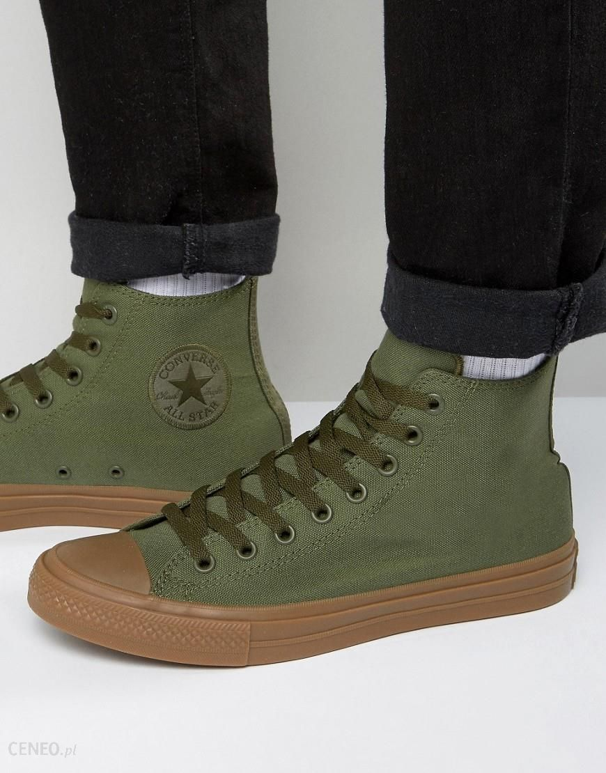 Converse Chuck Taylor All Star II Hi Plimsolls With Gum Sole In Green 155498C Green