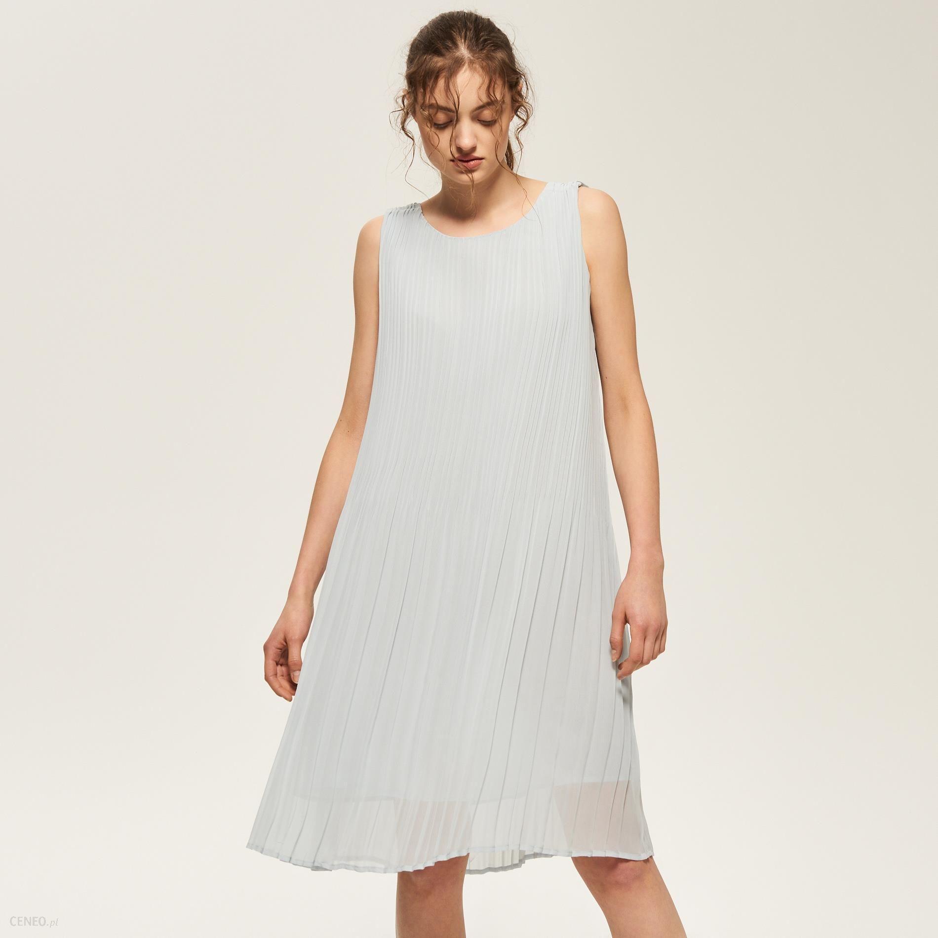 8ceeafdd73 Reserved - Plisowana sukienka - Szary - damski - Ceny i opinie ...