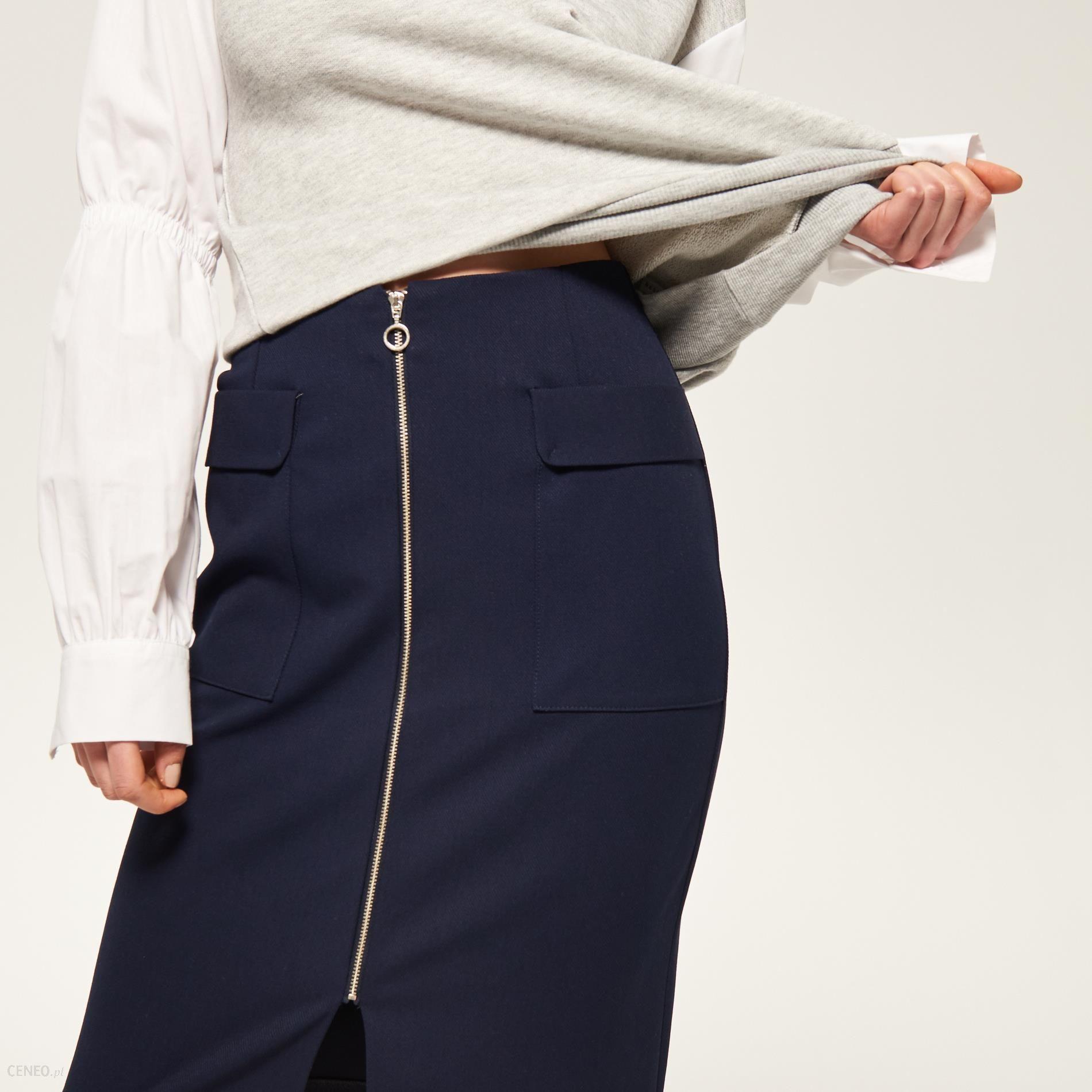 b0c338af Reserved - Ołówkowa spódnica - Granatowy - damski