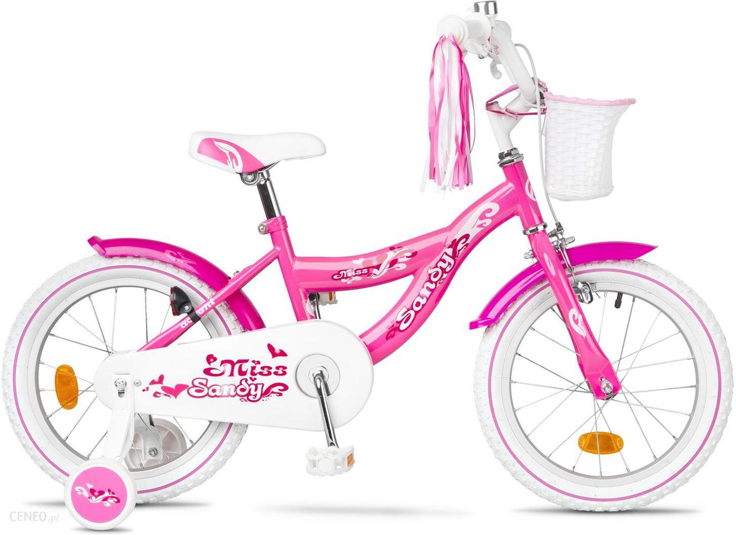 """Accent Sandy"" dviratis rožinis + krepšelis"