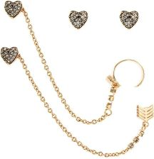 Juicy Couture Jewellery Biżuteria Heart Arrow Luxe Wishes Earrings Wjw62495-690