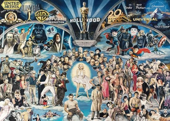 d3c032f66a1040 Schmidt Spiele Renato Casaro puzzle Hollywood (106641) - Ceny i ...