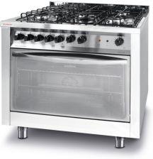 Revolution Kuchnia Gazowa 5 Palnikowa Z Konwekcyjnym Piekarnikiem Elektrycznym I Grillem 900x600x900 Mm 226254