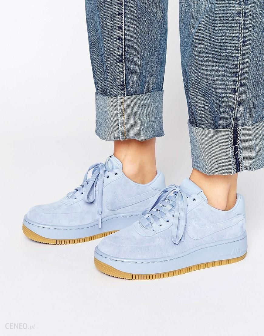 Nike Air Force 1 Upstep Premium Trainers In Blue Suede Blue