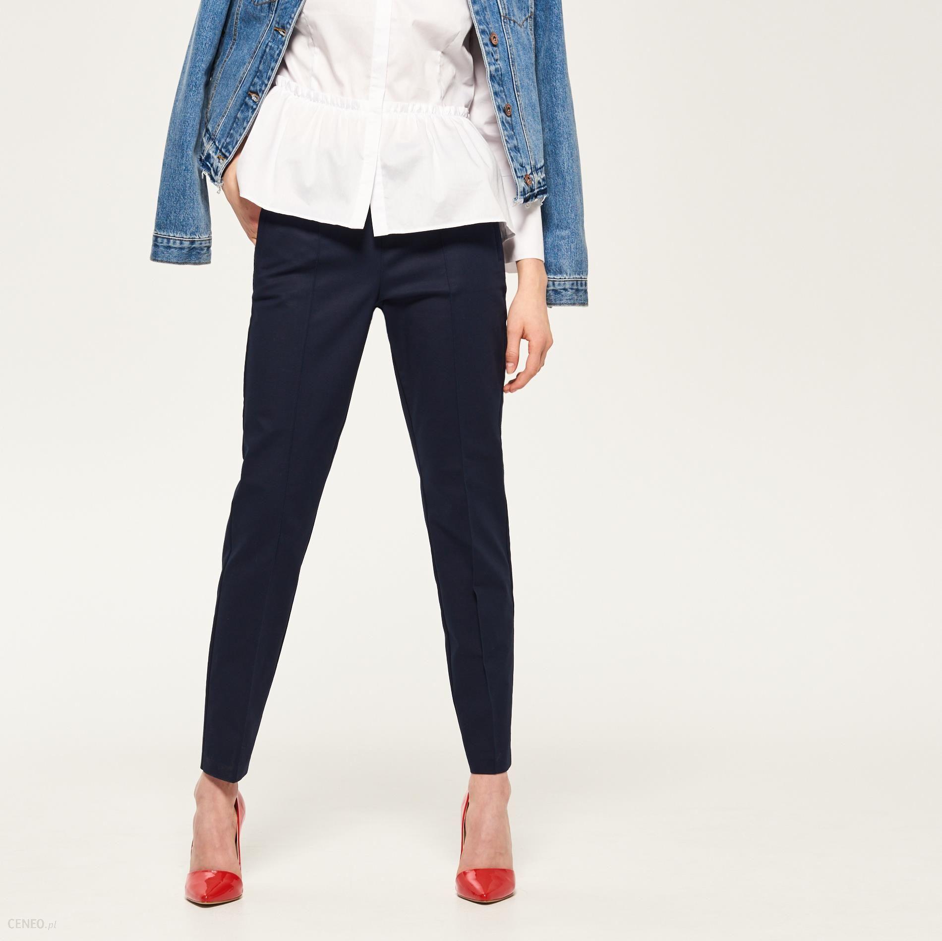 Reserved Granatowe spodnie Granatowy damski