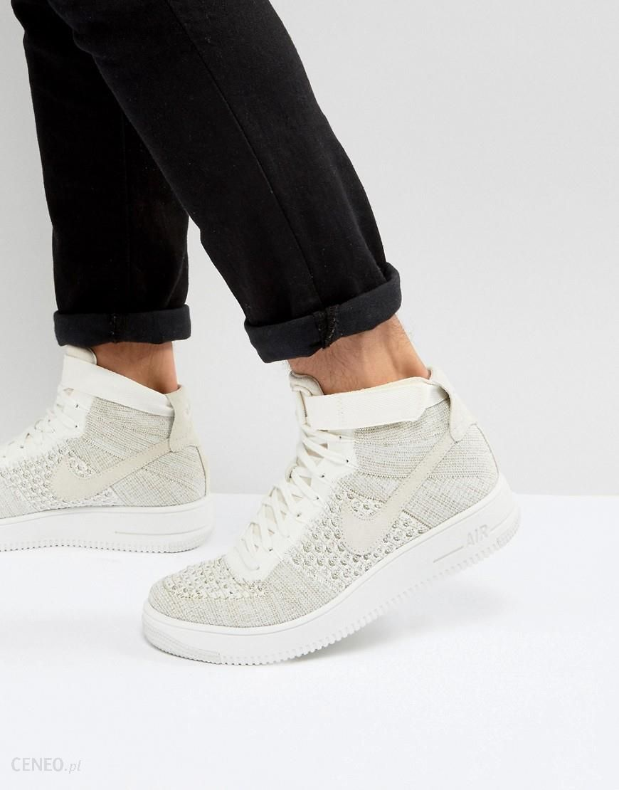 Nike Air Force 1 Flyknit Mid Trainers In White 817420 101 White Ceneo.pl