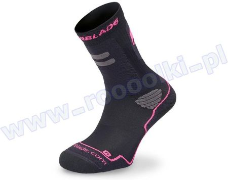 Skarpety damskie Rollerblade High Performance W Socks Black / Fuchsia 2017