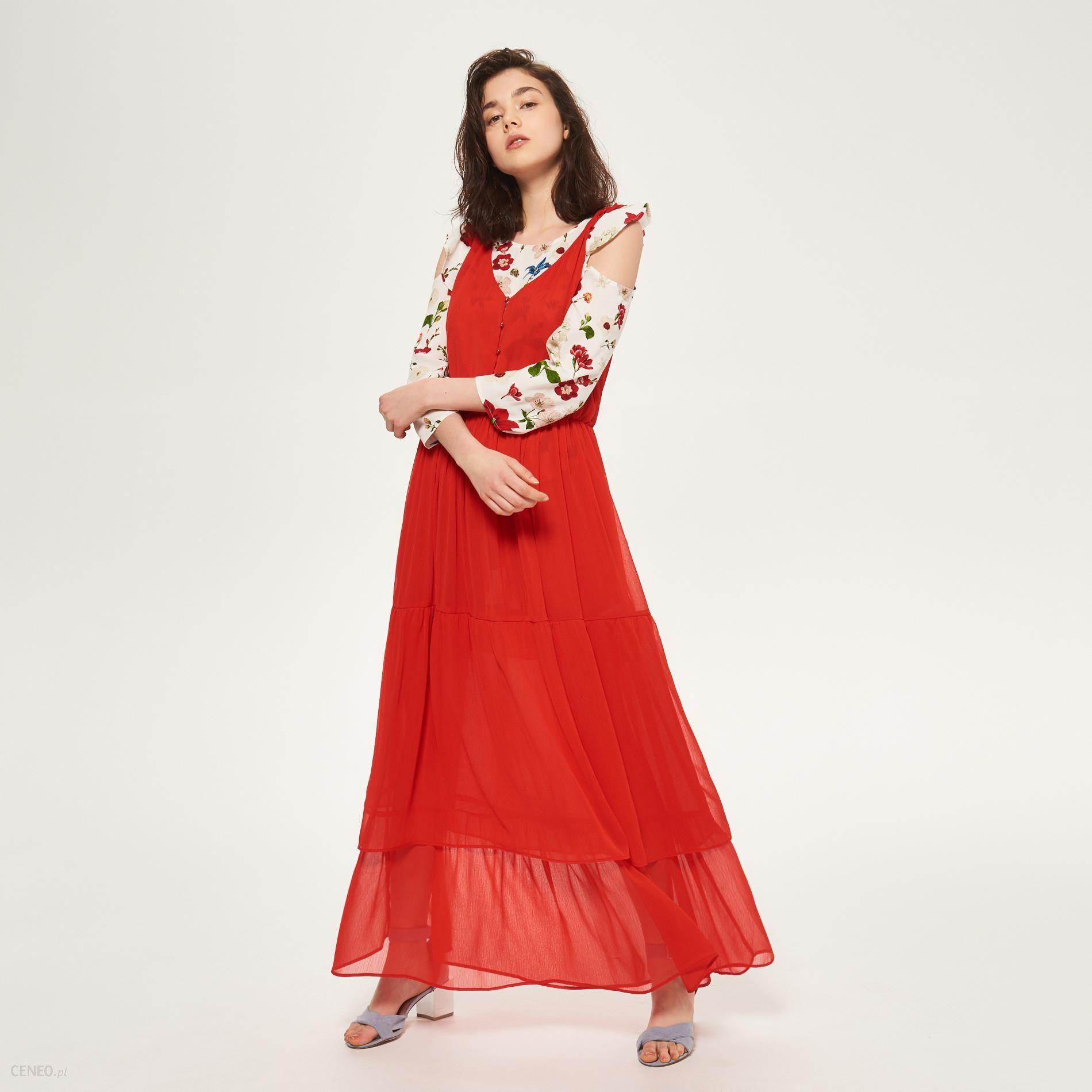 Reserved Sukienka maxi Czerwony damski