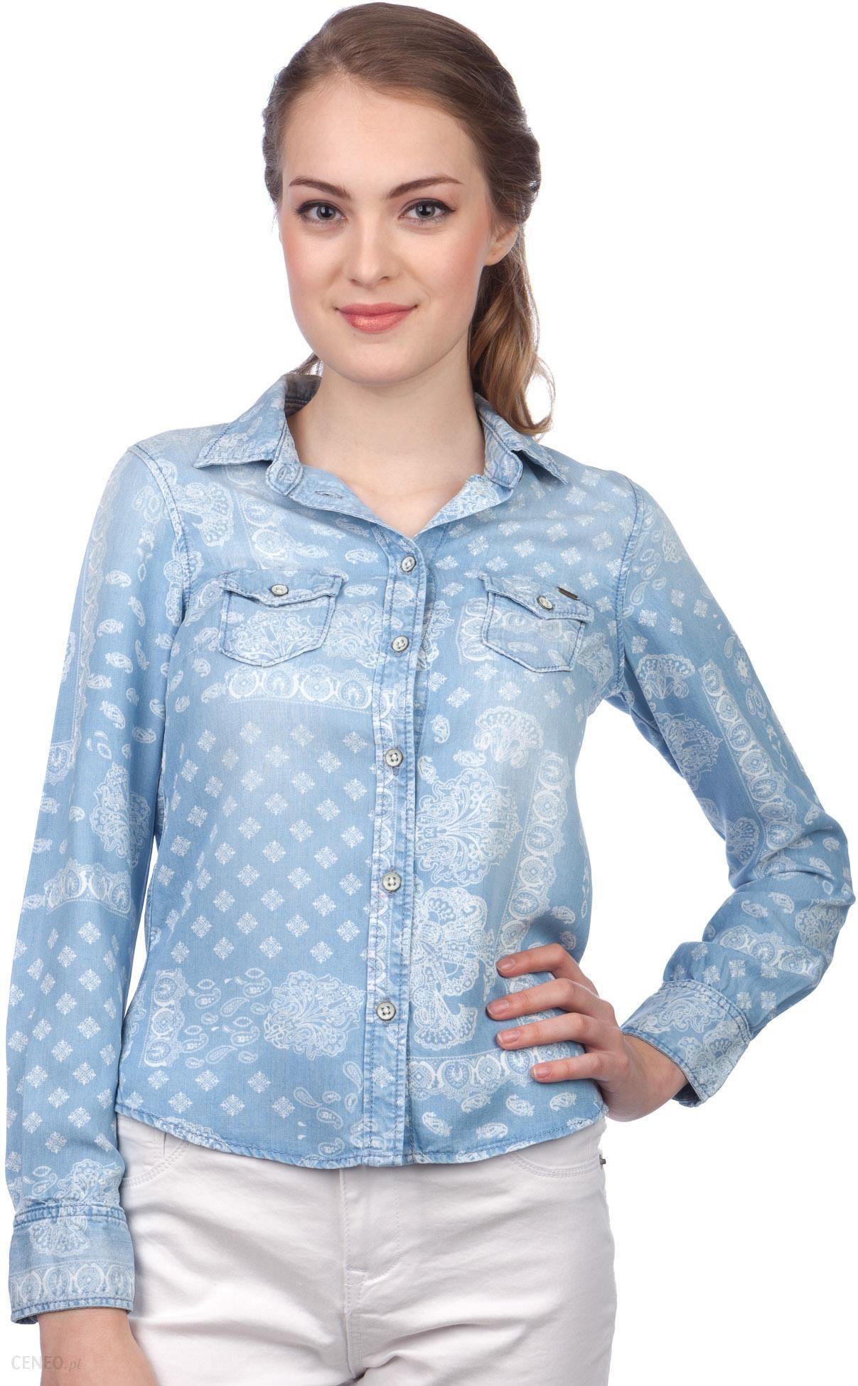 6d9fefcd05bf02 Pepe Jeans koszula damska Freedom S niebieski - Ceny i opinie - Ceneo.pl