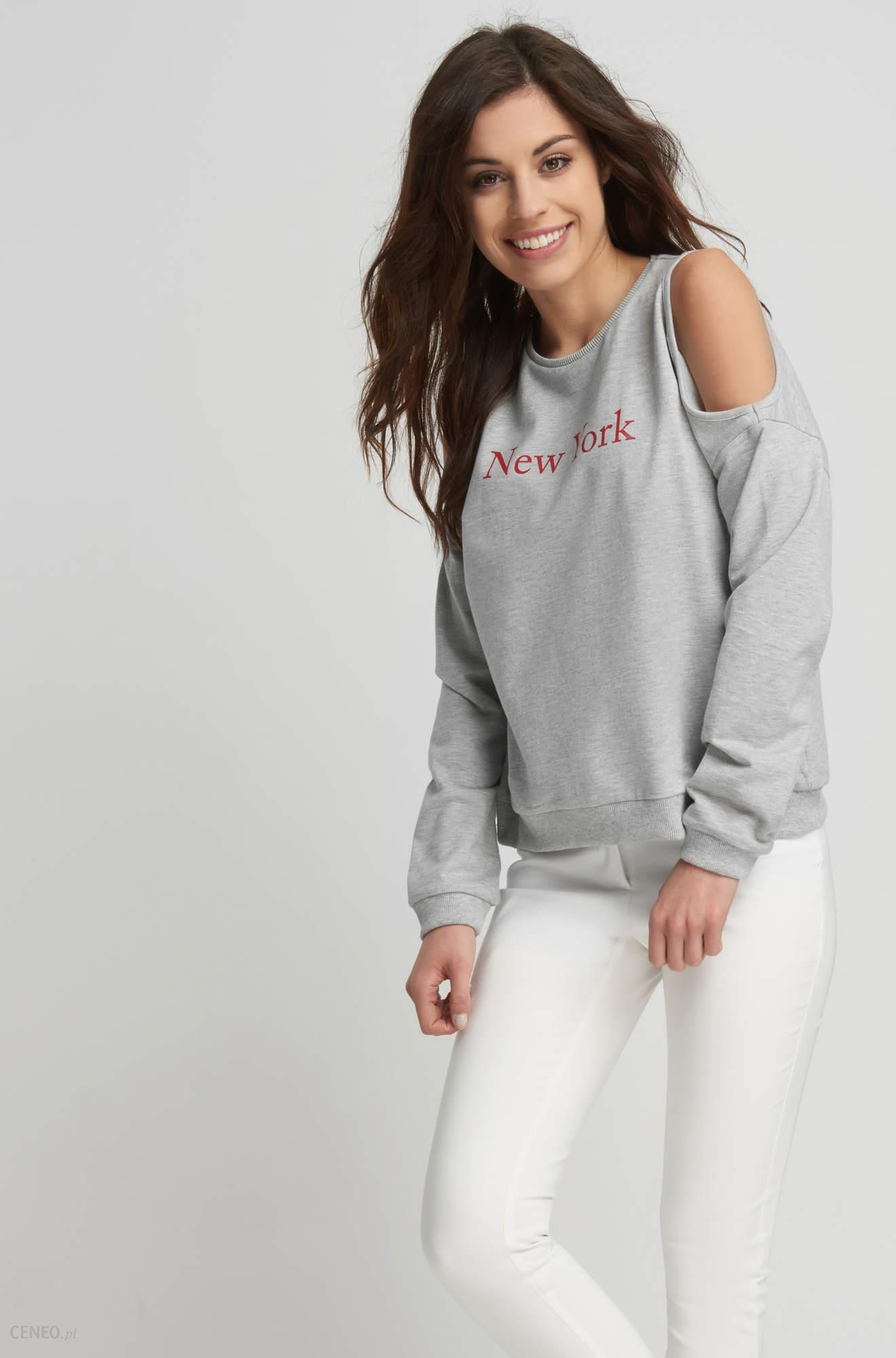 bluza adidas damska z otkrytymi ramionami