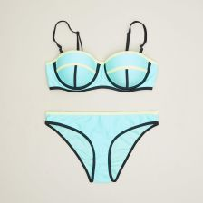 6d20819f53a40b Cropp - Dwuczęściowy strój kąpielowy - Niebieski - Ceny i opinie ...