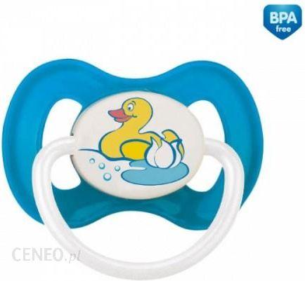 2f310a0b60a56 Canpol Babies Smoczek Uspokajający Kauczukowy Symetryczny 18M+ Country  Niebieski (23459) - zdjęcie 1