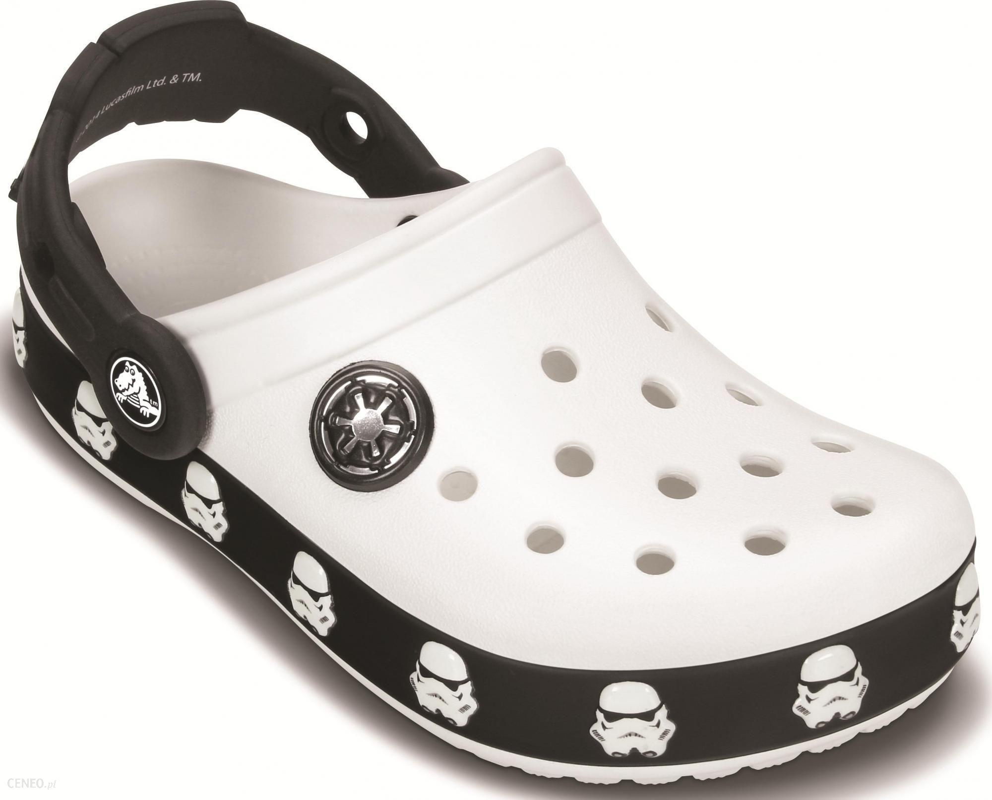 moda 100% jakości Hurt Crocs buty Star Wars Tropper Clog White/Black 23 (C6/C7)