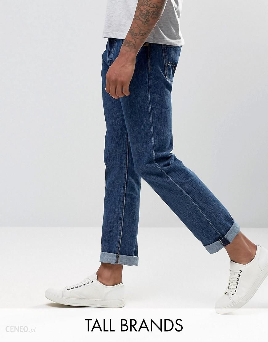 Levis TALL 501 Button Fly Straight Fit Tall Jean Medium Stone Wash Blue Ceneo.pl