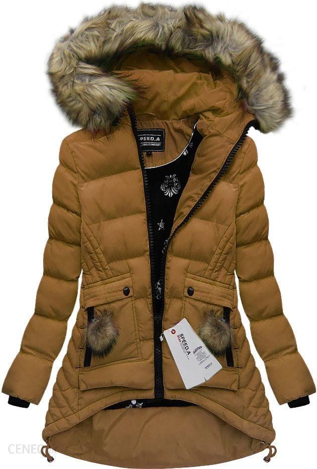 zimowa kurtka karmelowa