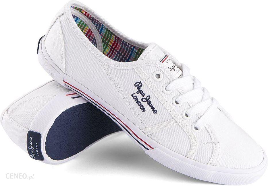 070ac345a667 Trampki Pepe Jeans Aberlady Basic White - Ceny i opinie - Ceneo.pl