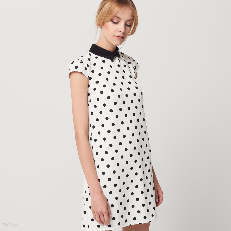 Mohito Sukienka w grochy Biały damski