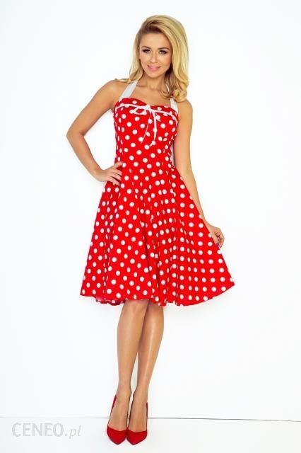 fbd41082 Sukienka ROCKABILLY PIN UP czerwona w białe kropki