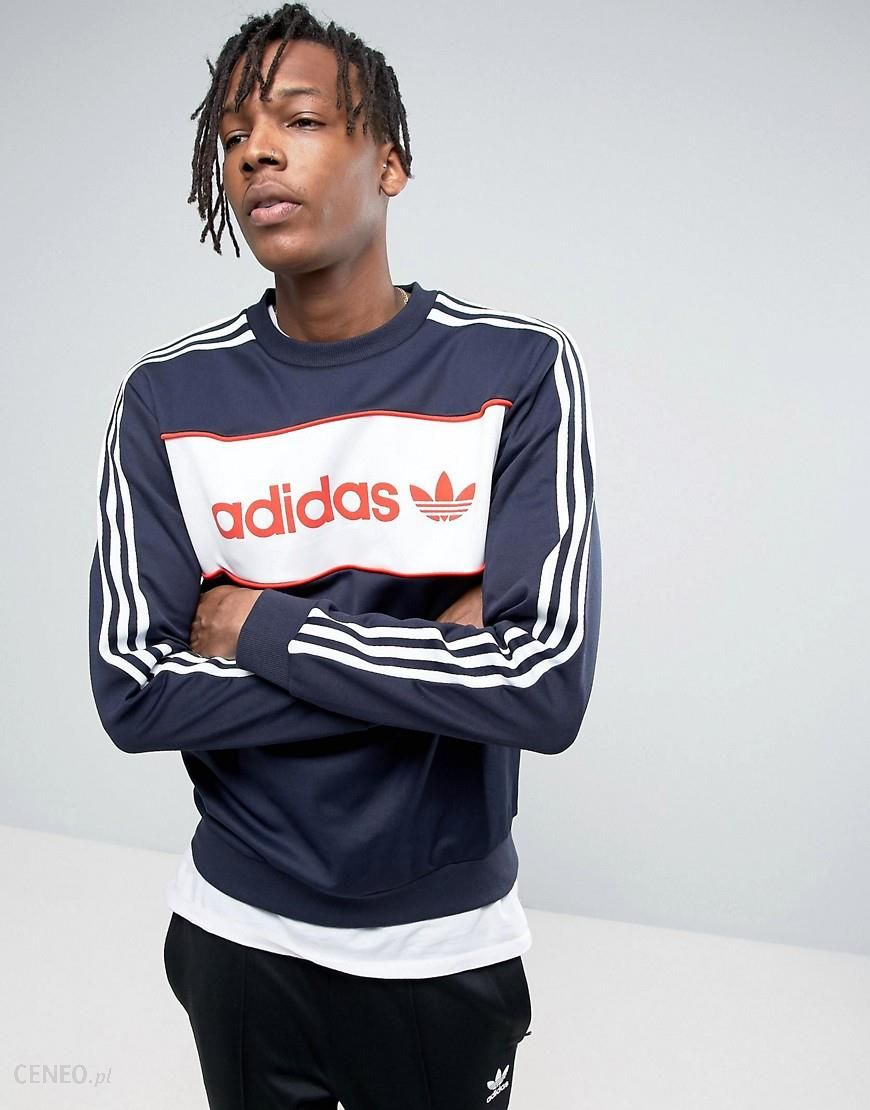 Adidas Originals London Pack Block Crewneck Sweatshirt In Blue BK7809 Blue Ceneo.pl