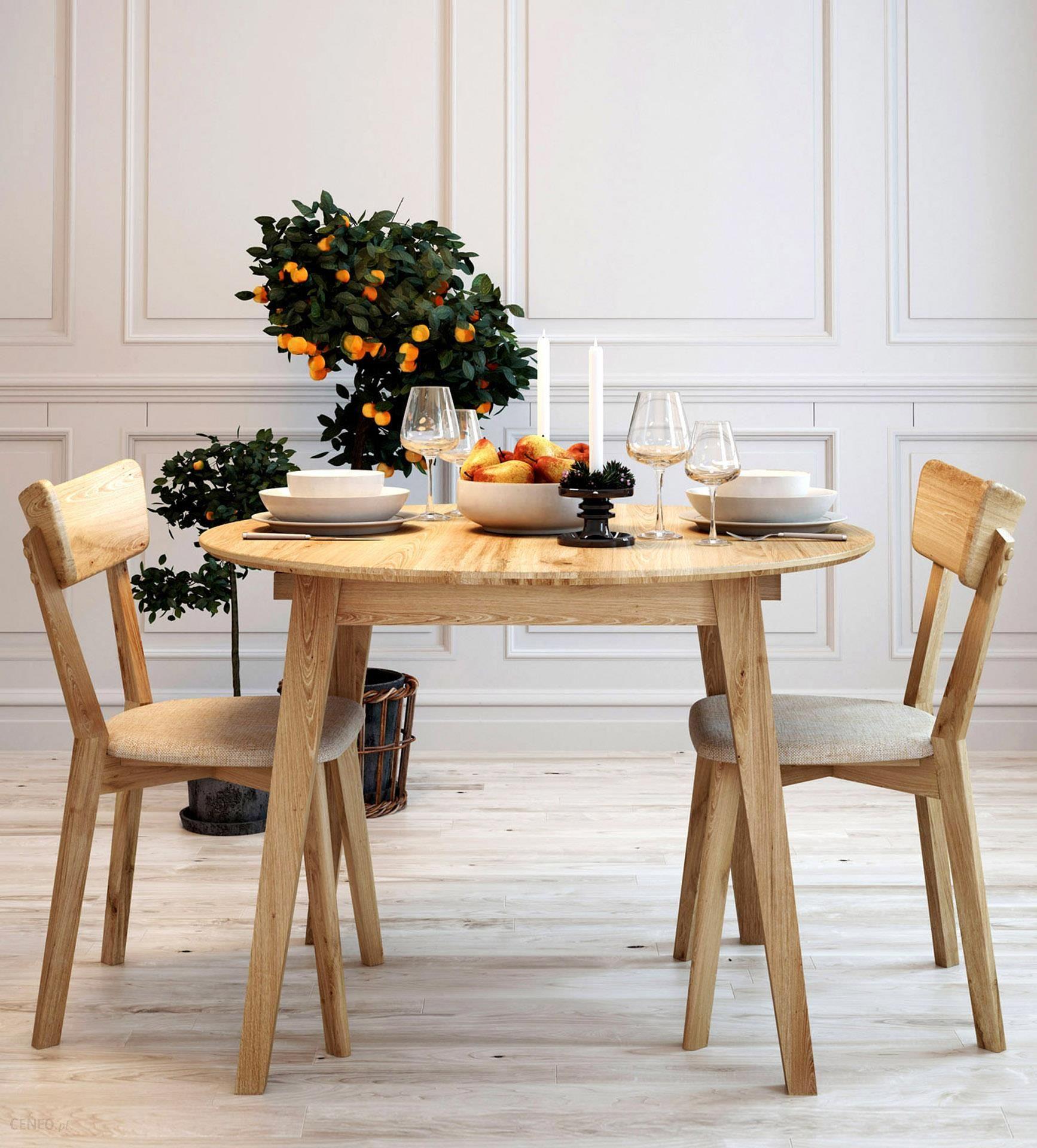 Bardzo dobryFantastyczny Woodica Stół Dębowy Okrągły 03 90X75X90 - Opinie i atrakcyjne ceny IK88