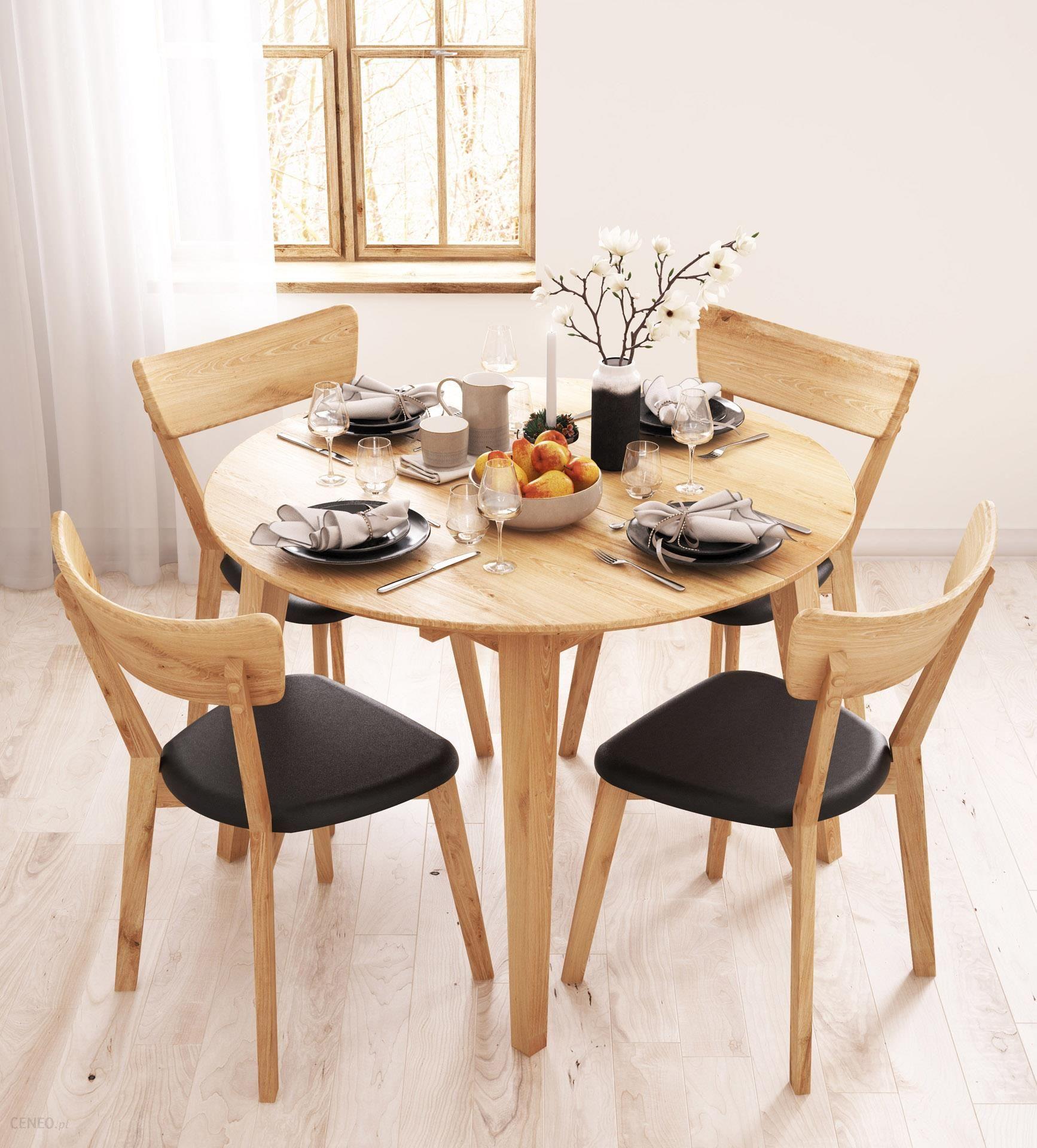 Niesamowite Woodica Stół Dębowy Okrągły Rozkładany 04 90X75X90 - Opinie i YO04
