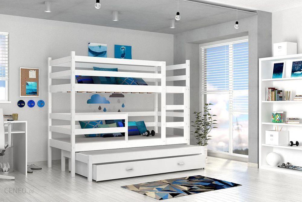 Kod Aj łóżko Piętrowe Jacek 3 Mdf 3 Osobowe Biały