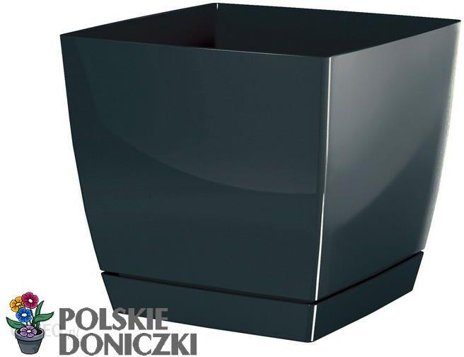 Prosperplast Doniczka Kwadratowa Z Podstawką Coubi 38l Grafit Dukp180426u