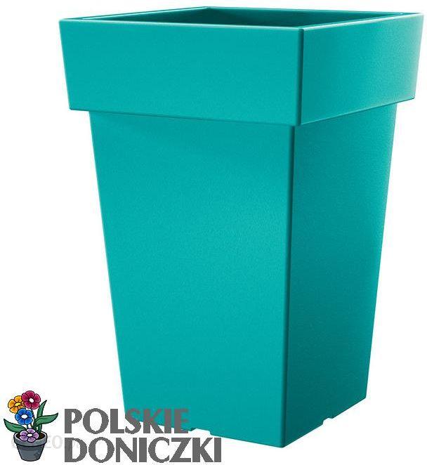 Prosperplast Doniczka Z Podstawką Lofly Square 72l Turkusowy Dlofq200320u Ceny I Opinie Ceneopl