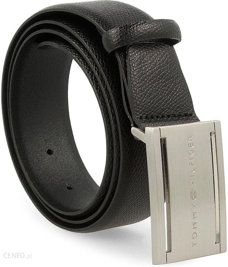 bcab82f16a5e9 Pasek Męski TOMMY HILFIGER - Th Plaque Belt 3.5 Adj AM0AM02223 90 002 - zdjęcie  1