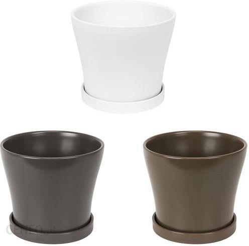 Polnix Doniczka Ceramiczna Oslo Z Podstawką D 13 Ceny I Opinie Ceneopl
