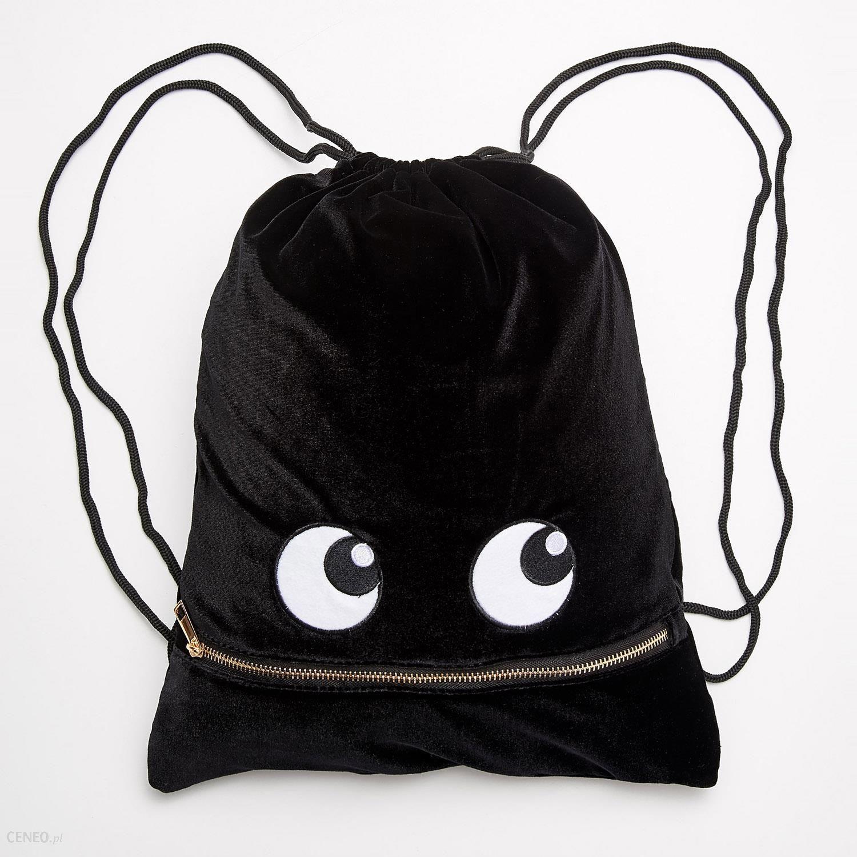5469ff458e99b Sinsay - Plecak-worek z oczami - Czarny - damski - Ceny i opinie ...