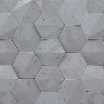 Steinblau Kamień Dekoracyjny Playa Hexagon 3d