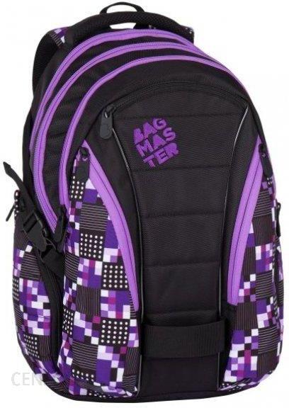 ef2f05addc18e Bagmaster Plecak Bag 7 A Black Violet - Ceny i opinie - Ceneo.pl