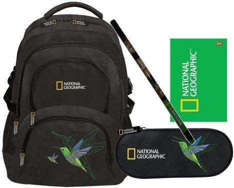 9e34e6e53bdfc St Majewski Zestaw 4W1 National Geographic Geometric Koliber Plecak Piórnik  Brulion Ołówek - zdjęcie 1