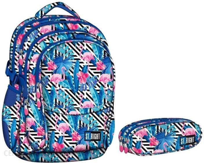 610c311ced258 St Majewski Zestaw Plecak + Piórnik Flamingo Pink And Blue St.Right  Niebieski - zdjęcie