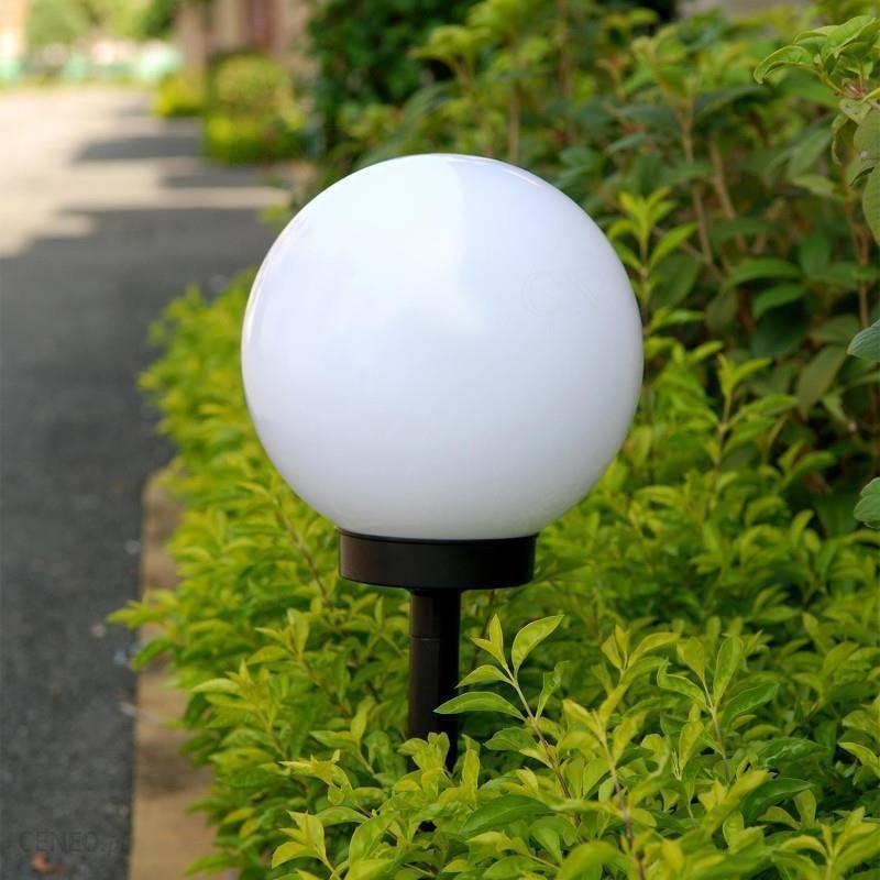 Greenblue Solarna Lampa Ogrodowa Kula Led Gb123 Biała Ceny I