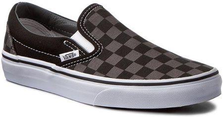 79125638663 Tenisówki VANS - Classic Slip-On VN000EYEBPJ Black Pewter Checkerboard  eobuwie