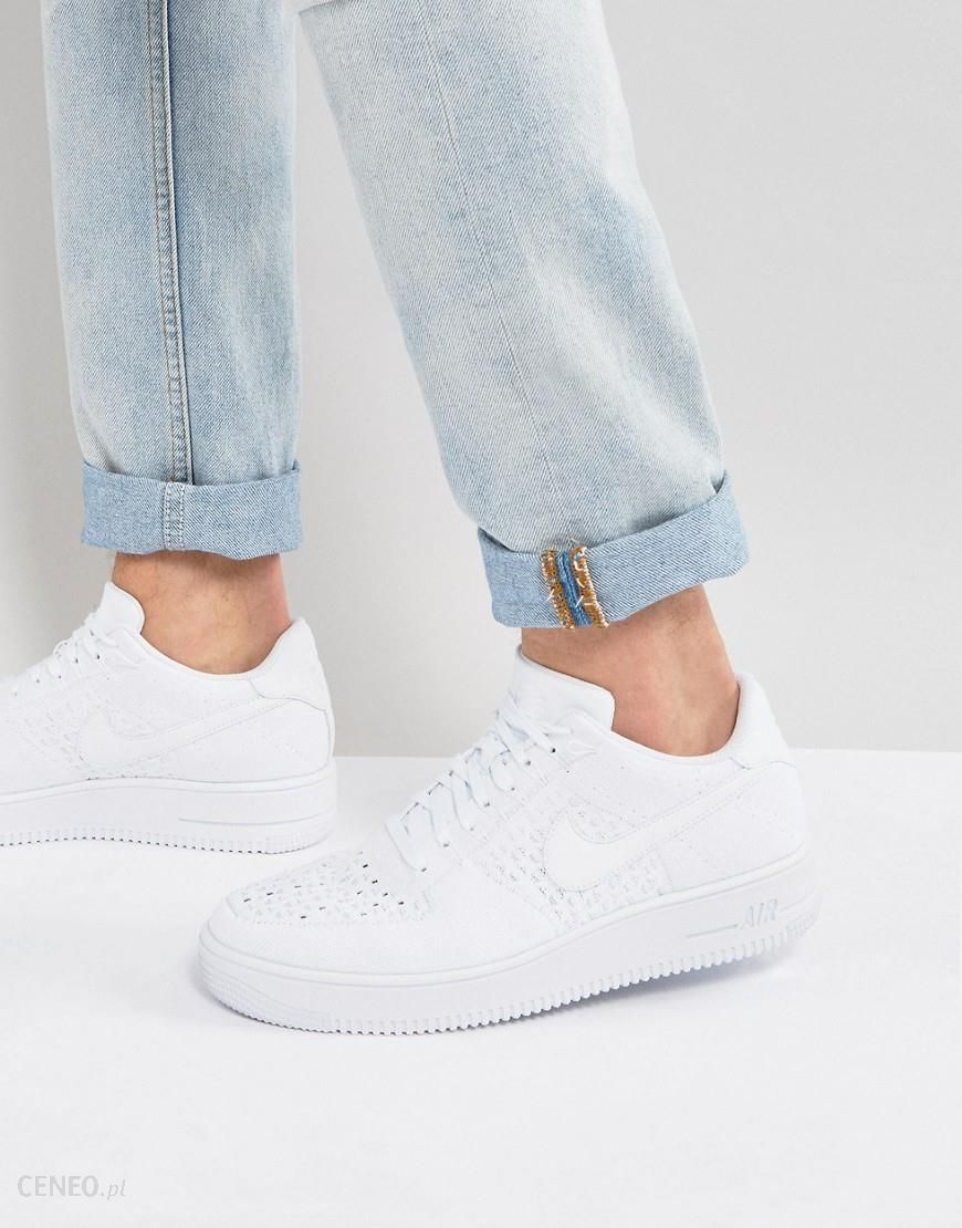 quality design 75e64 1b8be Nike Air Force 1 Flyknit Trainers In White 817419-101 - White - zdjęcie 1