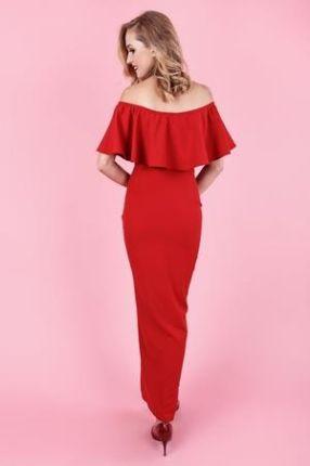 4c76de3ffa Zjawiskowa sukienka lola marchiano maxi - czerwona
