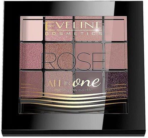 Eveline All In One akių šešėlių paletė rožė 12g