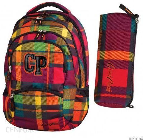 c88a62ad3f0a9 Patio Plecak Młodzieżowy Coolpack College Krata Cegła +Piórnik - zdjęcie 1