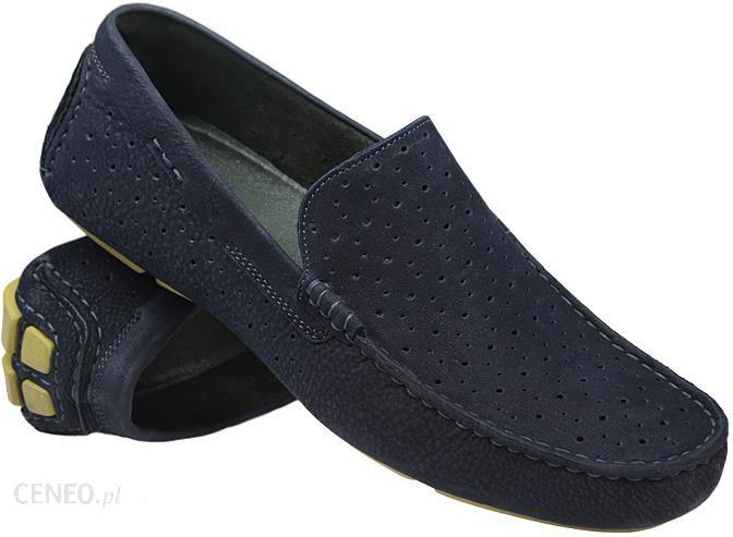 25d285b020f98 Mokasyny wsuwane buty BADURA 3171 Granatowe - Ceny i opinie - Ceneo.pl