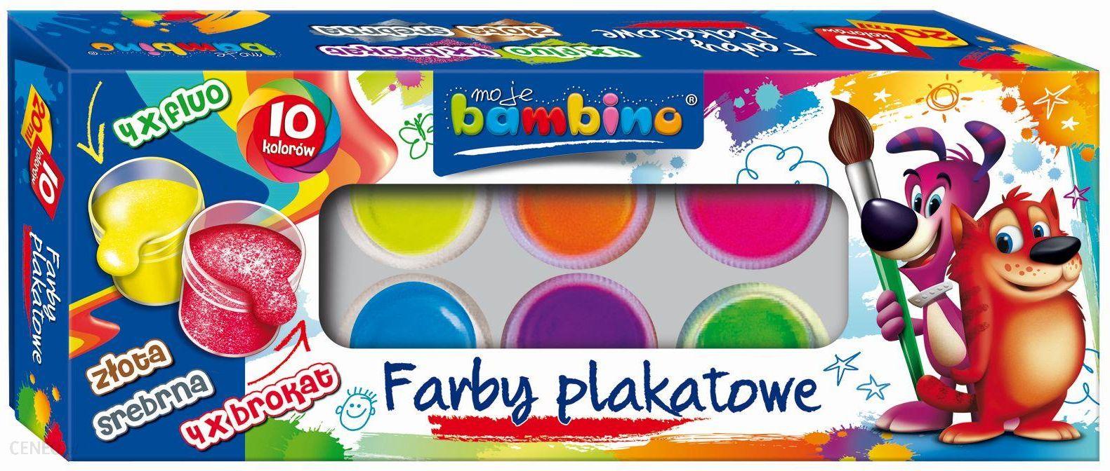 Bambino Farby Plakatowe 10 Kol 20 Ml Ceny I Opinie Ceneo Pl