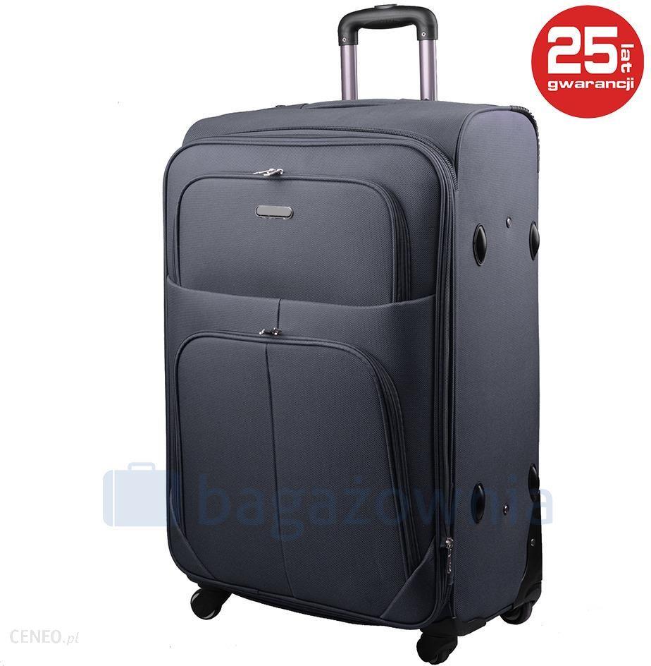750b7f35f8f1f Duża walizka KEMER PAROS Szara - szary - Ceny i opinie - Ceneo.pl