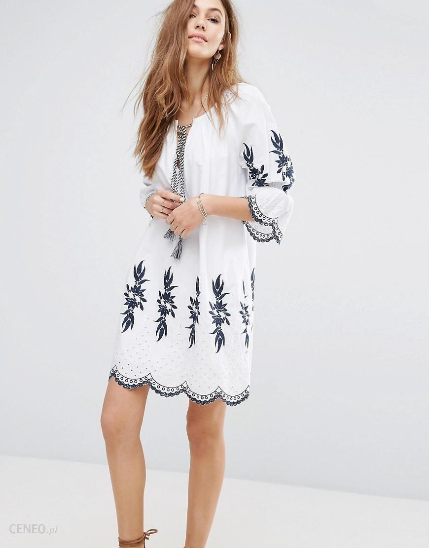 438d99a62e6 Moon River Embroidered Dress - White - zdjęcie 1