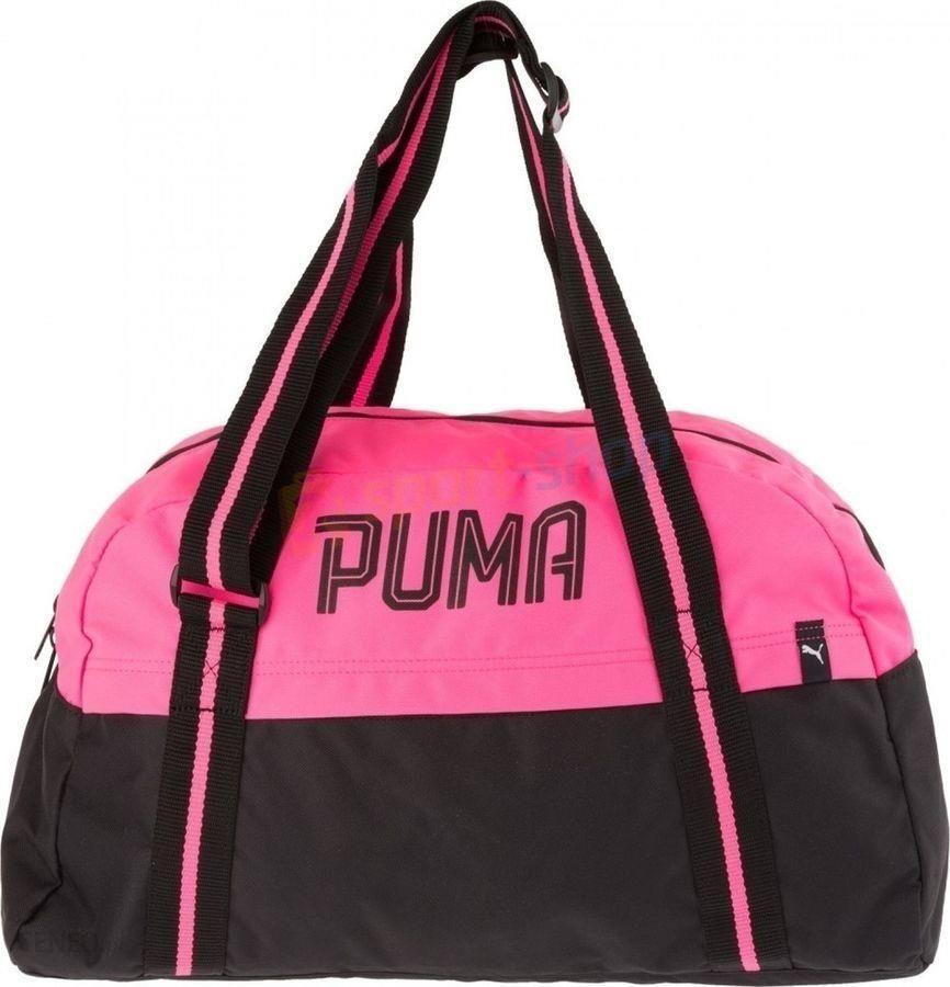d27814506e3b0 Torba fitnessowa Fundamentals Sports Bag Puma (czarno-różowa) - zdjęcie 1