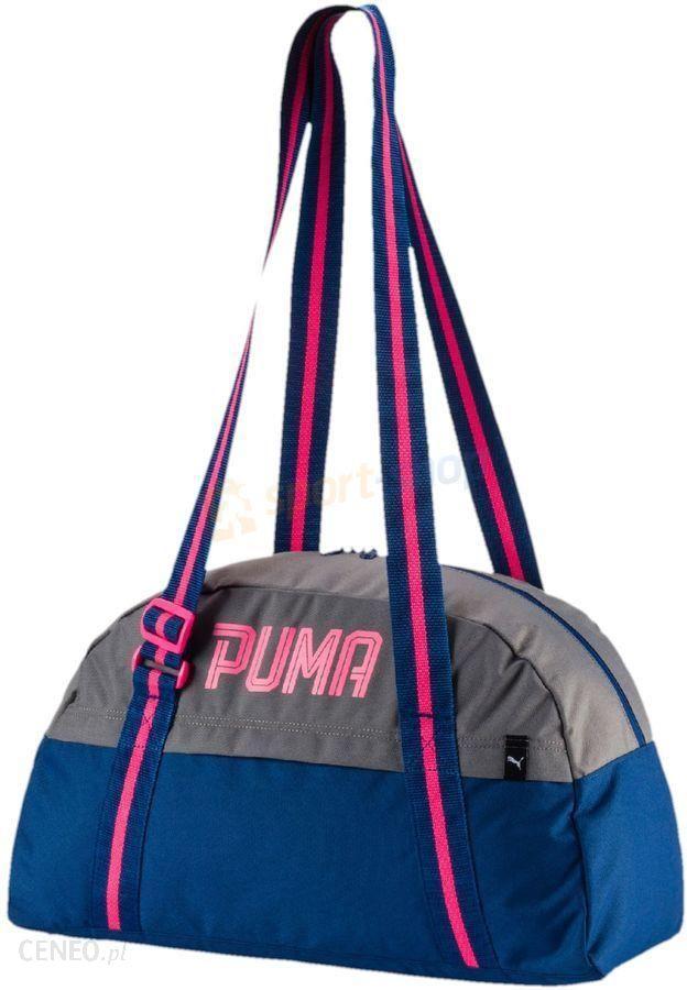 f83a8f08fbe6b Torba fitnessowa Fundamentals Sports Bag Puma (szaro-niebieska) - zdjęcie 1